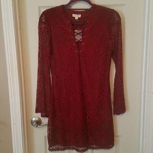 Ultra Flirt Red Lace Dress